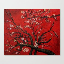 Almond Tree in Blossom - Red Motif by Vincent van Gogh Canvas Print