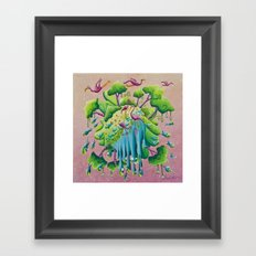the flamingo world Framed Art Print