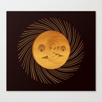 sun and moon Canvas Prints featuring sun-moon by Vila Propuh