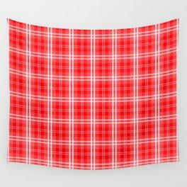 Christmas Red Tartan Plaid Check Wall Tapestry
