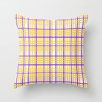 emily rickard Throw Pillows featuring Emily by Anh-Valérie