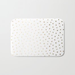 Golden Polka Dots Bath Mat