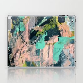 Connect [3]: a vibrant acrylic abstract in neon green, blues, pinks, & hints of orange Laptop & iPad Skin