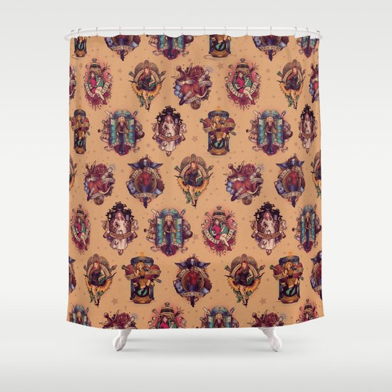 All Those Bright and Shining Companions Shower Curtain