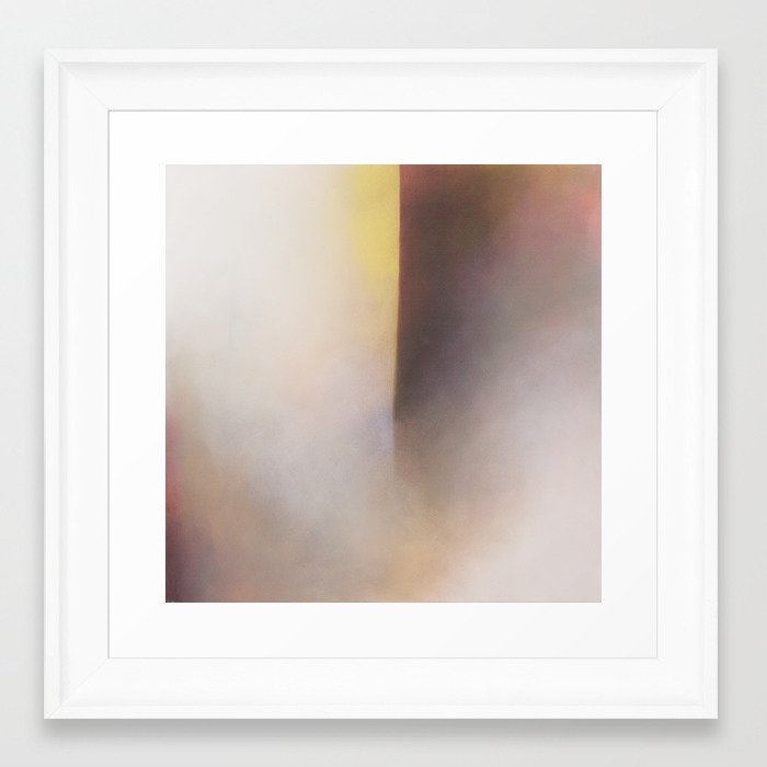 Whitby Cavern - Abstract geometric sea painting Framed Art Print by ...