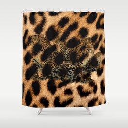 Leopard Shadow Shower Curtain