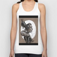 victorian Tank Tops featuring Victorian Profile_2 by David Miley