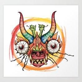 Fiesta Andina lápiz-color Art Print