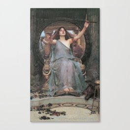 Circe Offering the Cup to Ulysses, John William Waterhouse Canvas Print