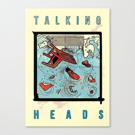 Talking Heads Limited Edition Music Poster Print Canvas Print