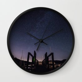 Dock On Under the Stars Wall Clock