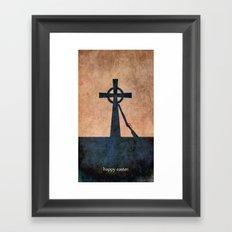 EASTER 1916 - Irish | Vector | Abstract | Surrealism | retro | Vintage | Ireland | Dublin Framed Art Print