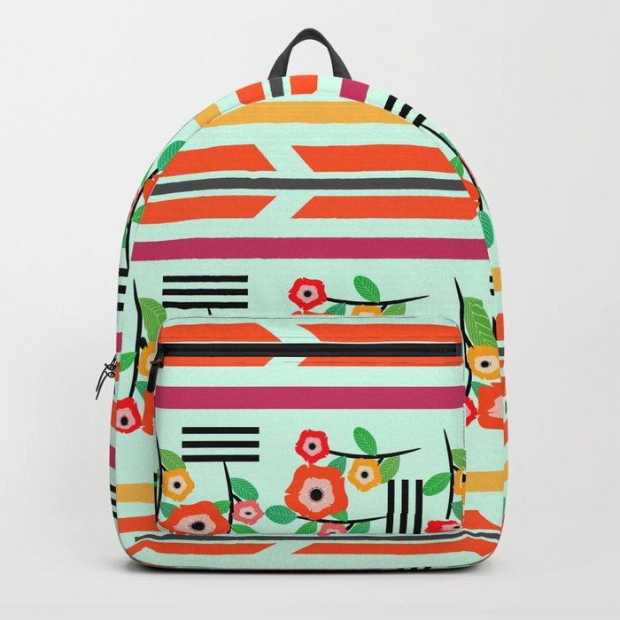 Geometric floral Backpack