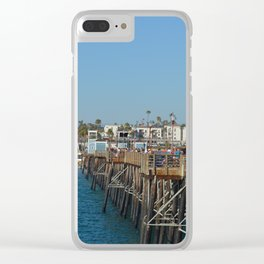 Beach Pier Clear iPhone Case