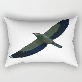 European Roller In Flight Silhouette Vector Rectangular Pillow