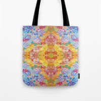 lsd Tote Bags featuring LSD Flower by Zeus Design