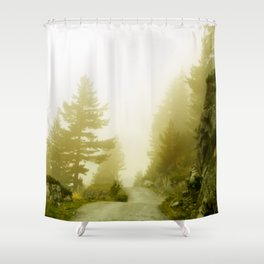 mountain route Shower Curtain
