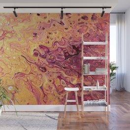 fluid golden raspberry Wall Mural
