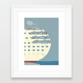 cruise ship Framed Art Print