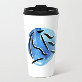 Spirit Horse {Blue Watercolor} Travel Mug