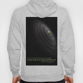 Tennis Ball Going for It Quote Hoody