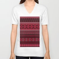 greek V-neck T-shirts featuring GREEK pattern by ''CVogiatzi.