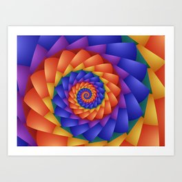 Beautiful Rainbow Spiral  Art Print