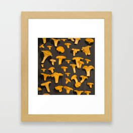 Chantterelles On A Dark Grey Background - Autumn Harvest - #Society6 #buyart Framed Art Print