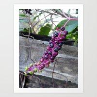 ombre Art Prints featuring Purple Rain by aeolia