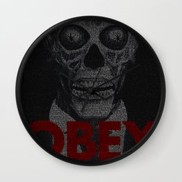 They Live. Obey. Screenplay Print. Wall Clock