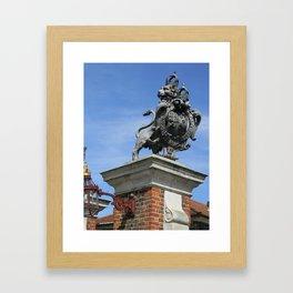 Lion at Hampton Court Palace Framed Art Print