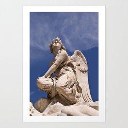 WHITE ANGEL of SICLY Art Print