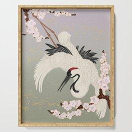 Japanese Crane Serving Tray