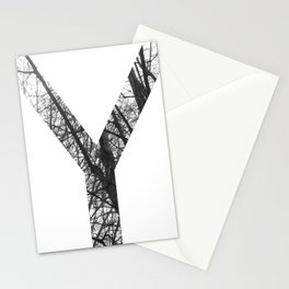 Minimal Letter Y Print With Photography Background Stationery Cards