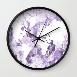Design 109 Purple World Map Wall Clock