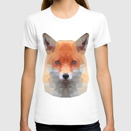Polygon Fox | Abstract Triangle Artwork T-shirt