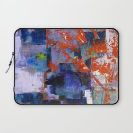 The Autumn Tree: Abstract Acrylic Painting of the Fall season Laptop Sleeve