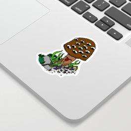 mushroom eyes Sticker