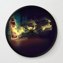 Christmas Mirror  Wall Clock