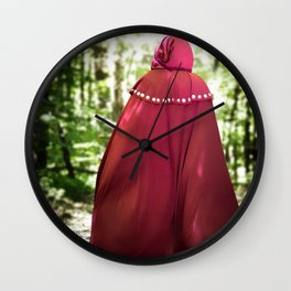 Red Cape Traveller Wall Clock