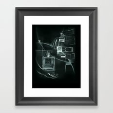 x-ray of perfume Framed Art Print