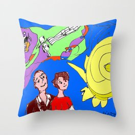 A Lover's kind of a Day            by Kay Lipton Throw Pillow