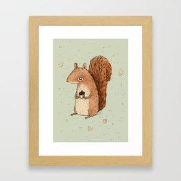 Sarah the Squirrel Framed Art Print