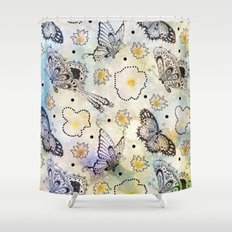 Butterfly In the Sky Shower Curtain