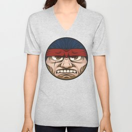 Tough Face Unisex V-Neck