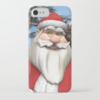 santa iPhone & iPod Cases featuring Santa by Design Windmill