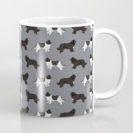 Newfoundland dog breed custom pet portrait by pet friendly dog lover must have gifts Coffee Mug
