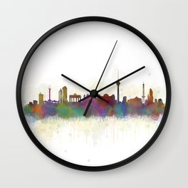 Berlin City Skyline HQ5 Wall Clock
