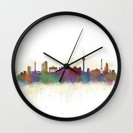 Berlin City Skyline HQ5 Wall Clock