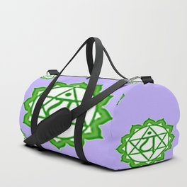 "This design is all about the ASTRAL PURPLE GREEN SANSKRIT CHAKRAS PSYCHIC WHEEL "" LOVE"" decor, furni Duffle Bag"